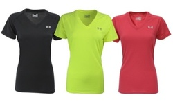 Under Armour Women's UA Tech V-Neck T-Shirt M Red Essential Tees 1843887