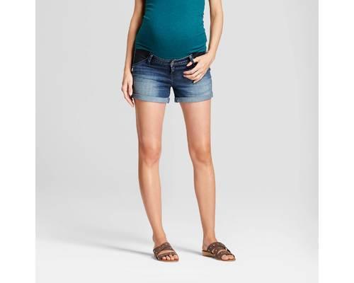 189895c866d32 Maternity Inset Panel Jean Shorts - Isabel Maternity™ by Ingrid & Isabel® Dark  Wash