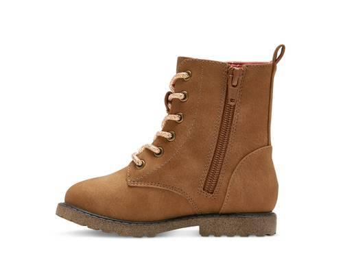 Jennifer Lace Up Fashion Boots - Brown