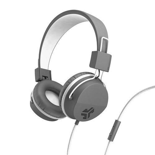 1fbdadc0d9a ... JLab Audio JBuddies Studio Over-Ear Folding Kids Headphones -  Gray/White ...