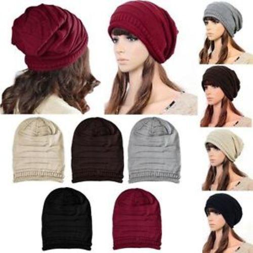 ... Unisex Zodaca Baggy Beanie Beret Hat Winter Warm Ski Cap - Brown ... 722d5dea5b7f