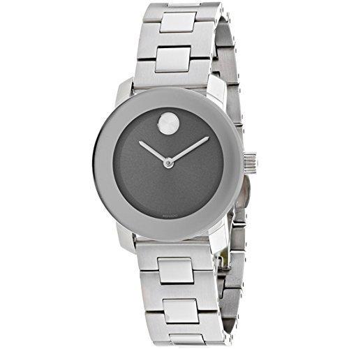 388bbc85c ... Movado Bold Women's 30mm Stainless Steel Bracelet Watch - Silver ...