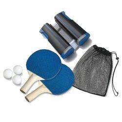 SHARPER IMAGE Retractable Table Tennis Set Black