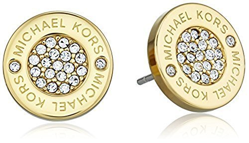 efe0a3b79 Michael Kors Gold Tone Logo Pave Stud Earrings - Check Back Soon - BLINQ