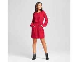 A New Day Women's Plaid Tie Waist Dress - Red - Size:XXL 1855646