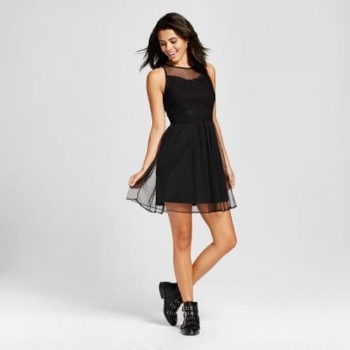 Xhilaration Women s Lace Fit   Flare Dress - Black - Size XS - Check ... 005a22724