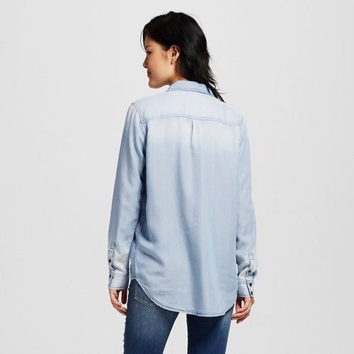 fffd16626e8 Mossimo Junior Women s Denim Shirt - Medium Wash -Size XS - Check ...