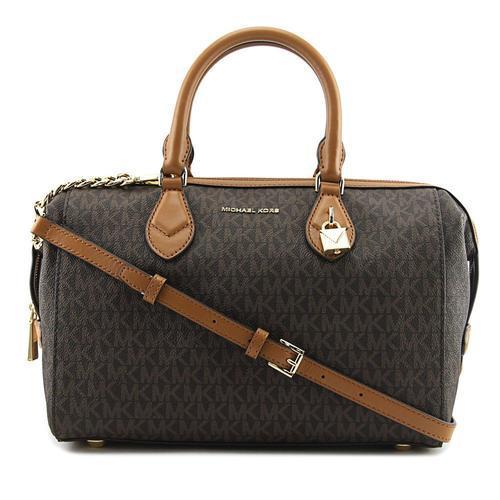8047c978cd57 Michael Kors Grayson Converstible Signature Satchel - Brown - Size: Large -  Check Back Soon - BLINQ