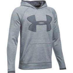 Boys' Storm Armour Fleece Twist Highlight Hoodie - Steel/Graphite - Size:L 1881040
