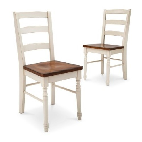 Mulberry Two Tone Distressed Dining Chair Antique White Set of 2 - Beekman  1802 FarmHouse - Mulberry Two Tone Distressed Dining Chair Antique White Set Of 2