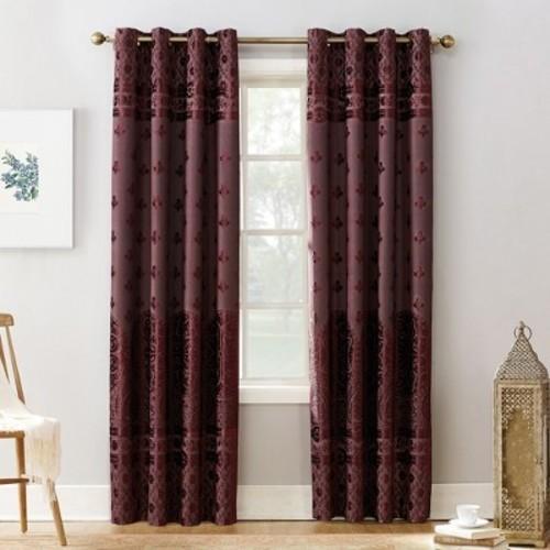 Sun Zero Blackout Grommet Curtain Panel Merlot Size 50 X63