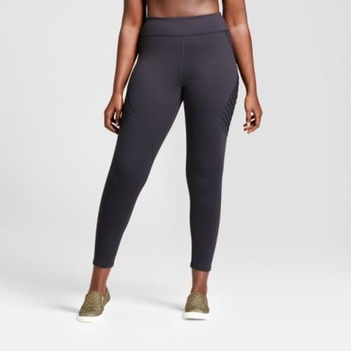 b8daadacc1542 ... 2X JoyLab Women's Plus Premium 7/8 Moto Leggings - Black - Size: ...