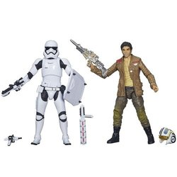 Star Wars Poe Dameron vs Riot Control Stormtrooper Action Figure - 2 Pack 1894703