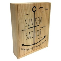 Deals on Buffalo Games Sunken Sailor Wooden Box Board Game