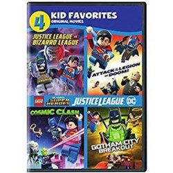 4 Kid Favorites LEGO DC Super Heroes DVDs Warner Home Video - 2017 1911194