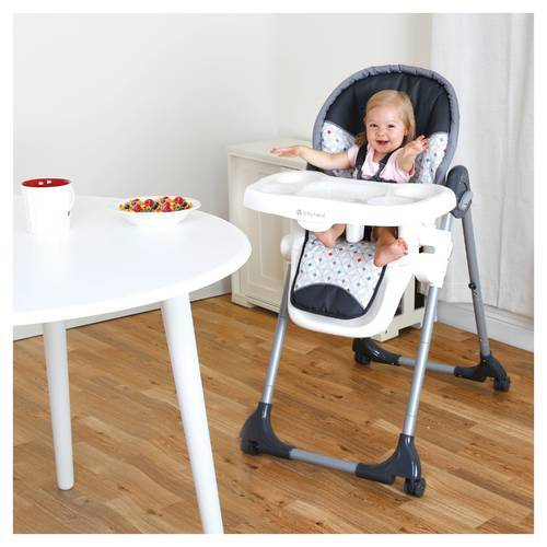 Stupendous Baby Trend Baby Deluxe 2 In 1 High Chair Diamond Geo Caraccident5 Cool Chair Designs And Ideas Caraccident5Info