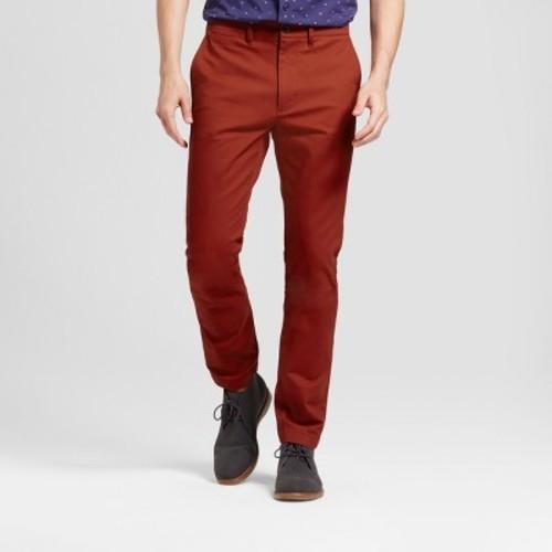 bfffeeac351b Goodfellow & Co Men's Slim Fit Hennepin Chino Pants - Brick - Size ...