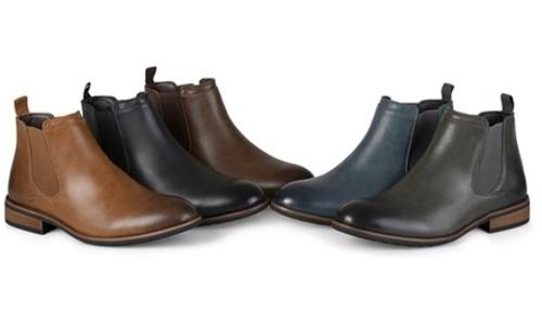 c1911875ea2 Vance Co. Men s Round Toe High Top Chelsea Dress Boots 7.5 Brown Medium ...