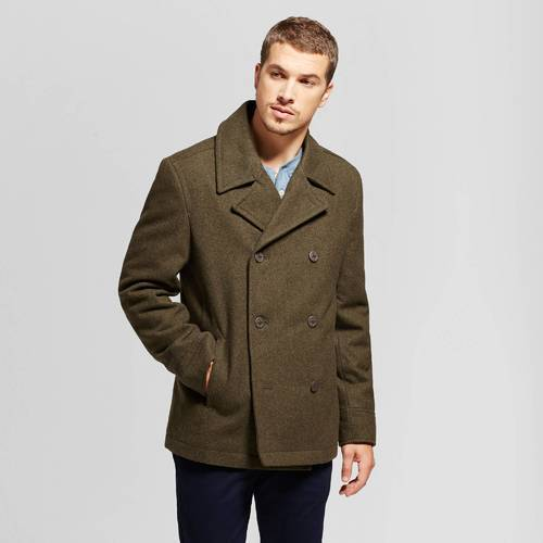 drop shipping convenience goods on wholesale Goodfellow Men's Standard Fit Wool Pea Coat - Olive - Size:M - Check Back  Soon