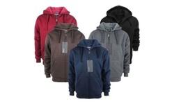 Lee Hanton Men's Solid Sherpa Lined Hoodies L Red 1669051