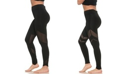 S2 Sportswear Women's High-Waist Workout Leggings - 2 Pack - Black - Size:L 1931722