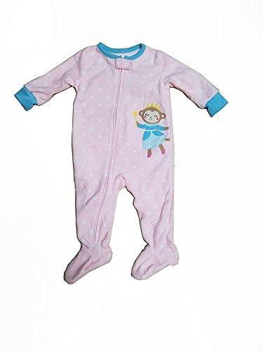 6610ee4b4 Carter s Baby Girl s Fleece Zip Monkey Footed Pajamas - Pink -Sz ...