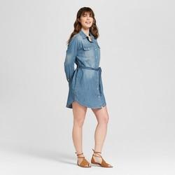 2c5f4ad8b0 Universal Thread Women s Denim Shirt Dress - Medium Wash - Size S ...