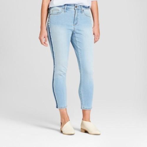 d710106d390 ... Universal Thread Women's High-Rise Skinny Crop Jeans - Light Wash ...