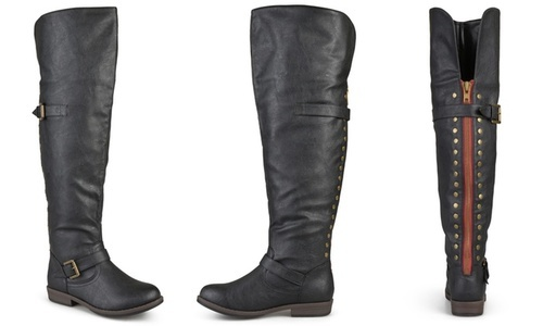 b2024400055d ... Journee Collection Women s Over-the-knee Buckle Boots - Black - Size   ...