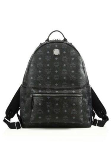 MCM Unisex Stark No Stud Medium Backpack - Black - Check Back Soon ... deaa34529394b