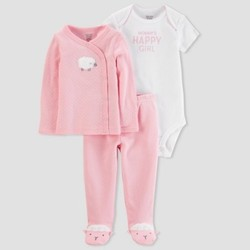dc4ff5e85408 Baby Girls  3pc Side Snap Tee Layette Set - Just One You made by ...