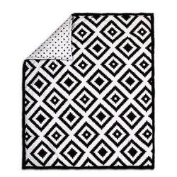 Black Diamond Tile Print 100% Cotton Crib