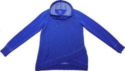 Calvin Klein Women's Long Sleeve Cowl Neck Sweater - Blue - Size:S 1960723