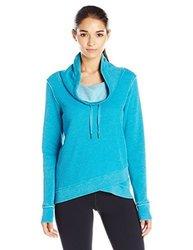 Calvin Klein Women's Distressed Thermal Sweater - Enamel Blue - Size:XXL 1960735