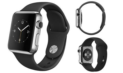 big sale 2dbbb a82b0 Apple Watch Stainless Steel Case - Black Sport Band - Sz: 38 MM (MJ3T2LL/A)  - Check Back Soon