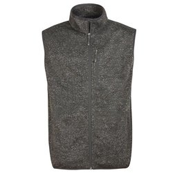 Free Country Men's Fleece Knit Full Zip Vest - Black - Size:L 1888961