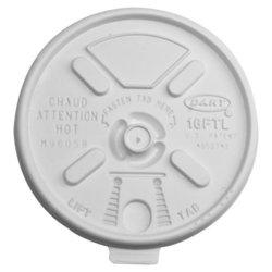 Dart 16FTL Vented Foam Lids for 16-24 oz Foam Cups, Lift n' Lock Lid 1981713