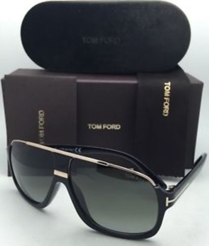 38f4efd5bf New Tom Ford Sunglasses Men Aviator TF 335 Black 01P Eliott 60mm ...