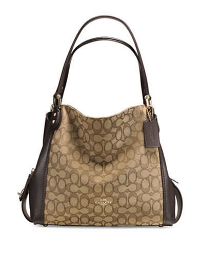 4228bffa9620 Coach Women s Edie 31 Signature Shoulder Bag - Khaki Brown (57933 ...