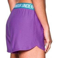 Under Armour Women's Heat Gear Loose Fit Shorts - Purple/Blue - Size:M 1983682