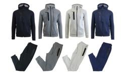 Harvic Men's 2-Piece Fleece Hoodie & Jogger Set - Dark Grey - Size: 2XL 1992461