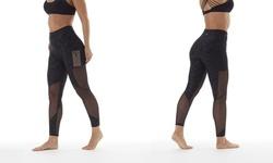 Bally Fitness High Waist Power Tek Leggings  - Black - Size: M 1805037