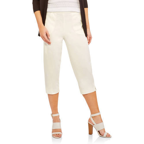 0013c5cda53 RealSize Women s 2-Pocket Stretch Capri Pants - Cream - Size M - Check Back  Soon - BLINQ