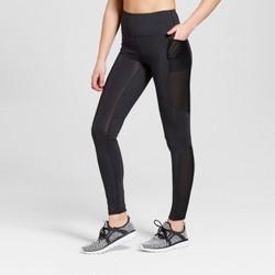 Women's Performance High-Rise Laser Cut Mesh Leggings - JoyLab  Black L 2048350