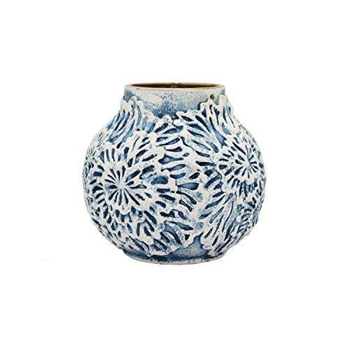 Three Hands Ceramic Vase Blue 63590 Blinq