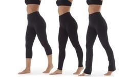 Marika High Rise Tummy Control Bottoms L Black High Waist Pant 2058122