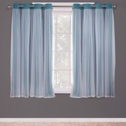 Curtain Pnls Exhome Solid Blu 2060939