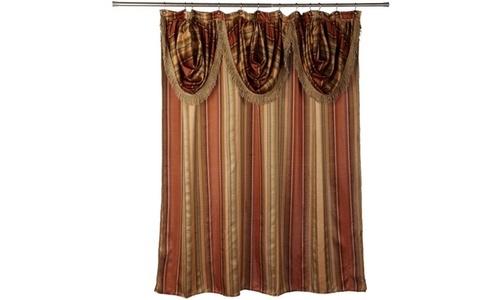 Bed Bath Contempo Spice Shower Curtain
