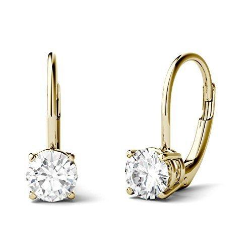 770e81ad5 Charles & Colvard 14k 2ct Dew Forever Moissanite Earrings - Gold ...