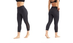Marika Womens Tummy Control Leggings - Heather Black - Size:M 2079291